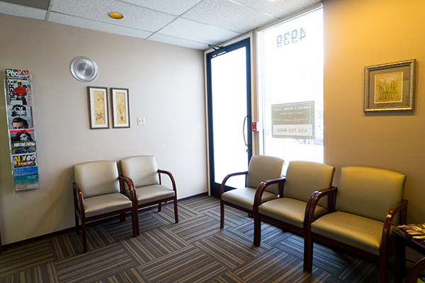 Patient waiting area at  Samuel S. Wong